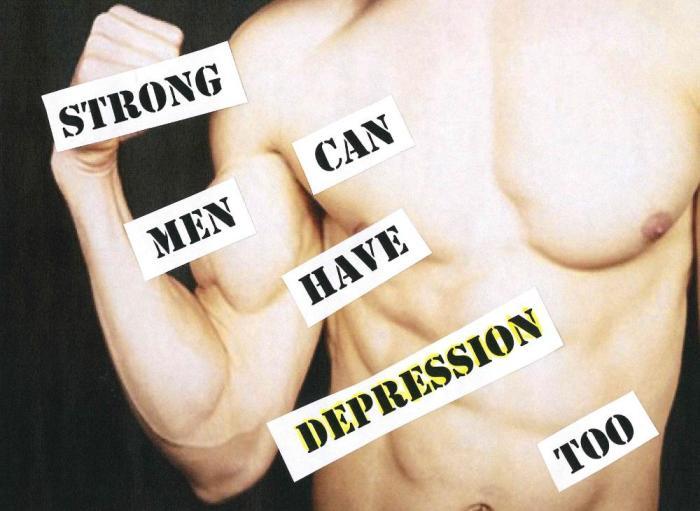 strong men depression