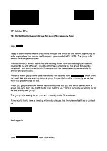 Letter to GP - MEN HEAL
